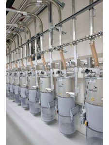 Filter: Central filter system with dust collection