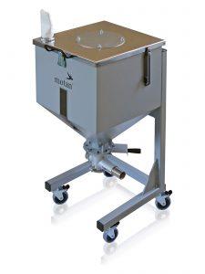 Los depósitos de inertización mantienen el material seco en un contenedor móvil