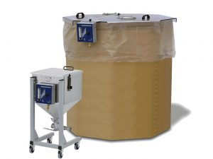 Material blanketing: Smaller quantities kept dry in a mobile blanketing bin or for larger material quantities a blanketing cover is useful.