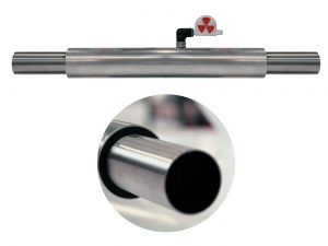 """Pipe within a pipe system""; the inner pipe is used as the material feed line, the air-filled space in-between the pipes reduces noise emissions and prevents pre-warmed, dried material from cooling"