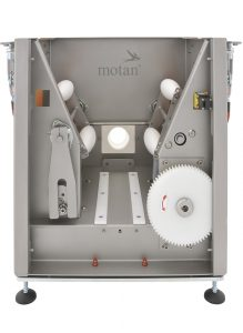 The flexible material bin can be changed in no time at all (image: Motan-Colortronic)